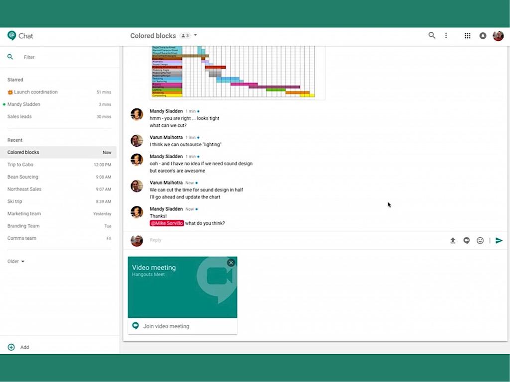 Google Hangsout Chat