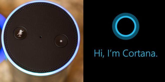 Cortana ya habla en los altavoces de Alexa