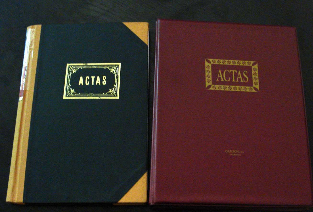 Libro de actas