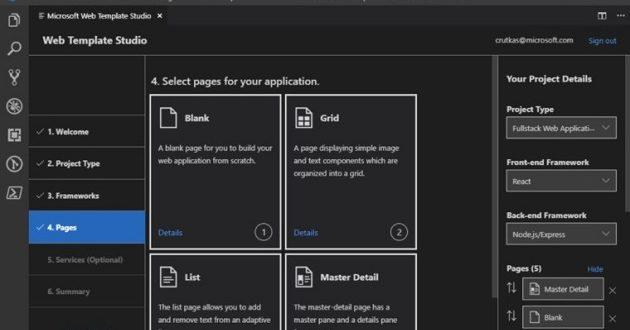 Microsoft lanza Web Template Studio para Visual Studio Code