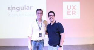 José Luis Vallejo con Javier Larrea