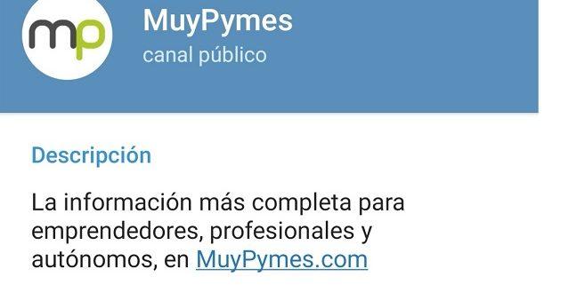 ¡Suscríbete a nuestro canal de Telegram de MuyPymes!