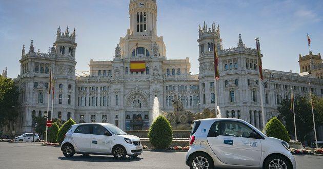 El carsharing flexible llega a los 1,4 millones de alquileres en Madrid