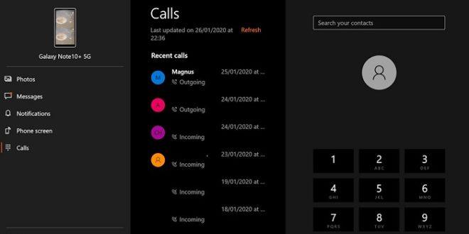 Windows 10 ya te permite hacer llamadas a través de la aplicación «Tu Teléfono»