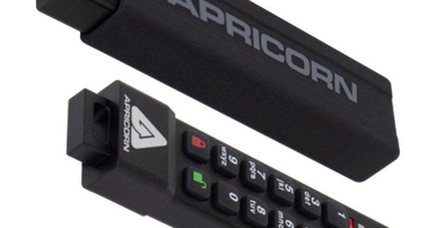 Apricorn Aegis Secure Key 3NXC, una unidad USB Type-C de 4 GB con cifrado AES 256