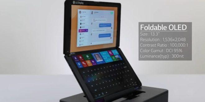 LG presenta una pantalla plegable portátil de 13,3 pulgadas