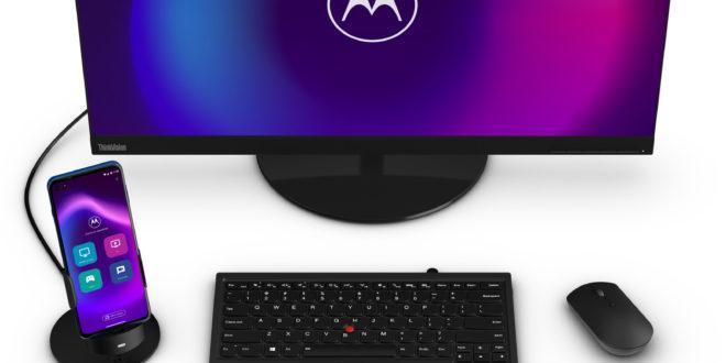 El Motorola Moto G100 ofrece un modo de escritorio que lo convierte en un PC de bolsillo